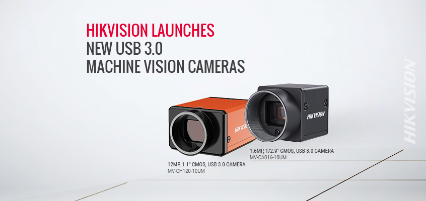 Hikvision Launches 15 New USB 3.0 Machine Vision Cameras, Plus 4 Board Level USB Versions for Limited Space Applications