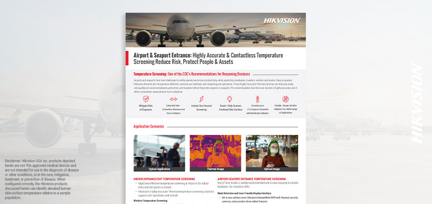 Hikvision HikWire blog article Airport HAT brochure