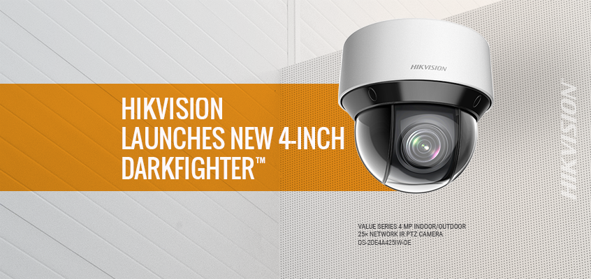 Hikvision North America Launches New 4-inch DarkFighter™ Network PTZ Surveillance Cameras with IR