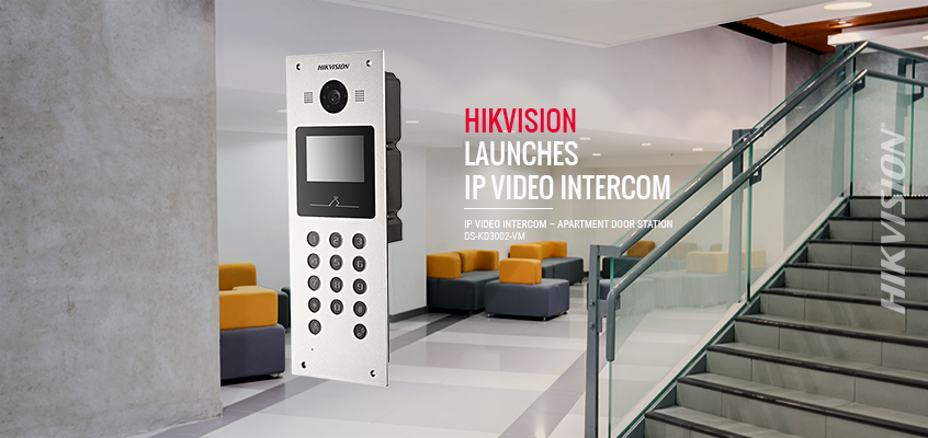 Hikvision Launches IP Video Intercom Apartment Door Station with 120