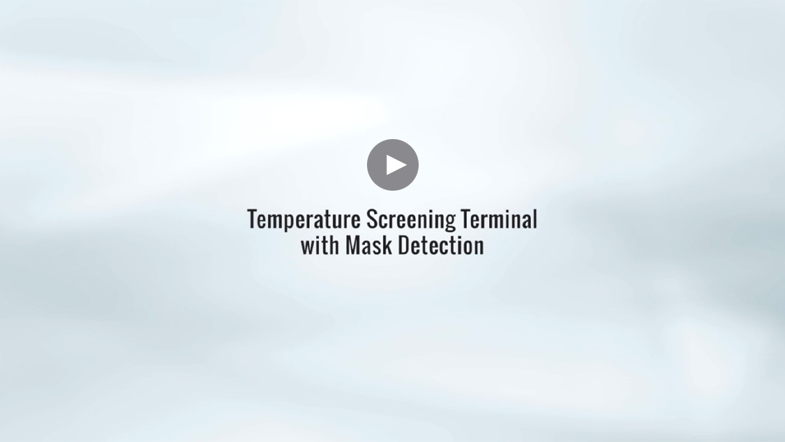 Temperature Screening Terminal With Mask Detection Video